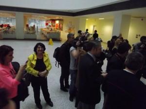 Cleopatra Lorinţiu la Sediul Agenţiei CIHAN din Istanbul alături de jurnalişti români.februarie 2013