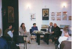 Cleopatra Lorintiu, Emanuel Valeriu şi Iulian Neacsu la Muzeul Literaturii Romane