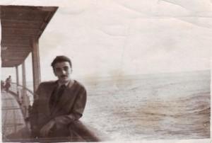 Gh Tomozei pe vaporul Transilvania în 1959