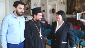 cu Elias AWAD liderul spiritual al ortodocşilor de rit bizantin din Ramallah