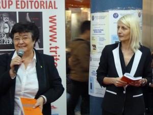 Cleopatra Lorinţiu şi Viorella Manolache , la Targul Gaudeamus 22 noiembrie 2014,Bucureşti