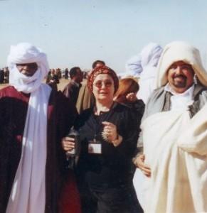 Cleopatra Lorinţiu şi guvernatorii tuaregi,Libia ,decembrie 2004