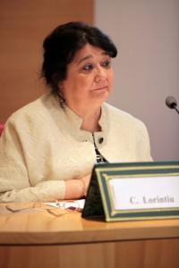 Cleopatra Lorintiu dans le panel La femme mediatrice dans l education et dans l information
