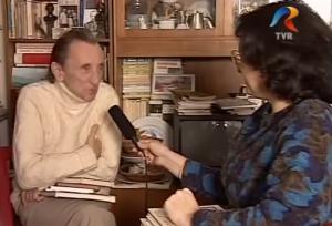 Cleopatra Lorinţiu intervievandu-l pe Tudor Opriş 1997