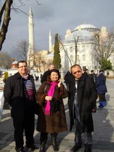 Cleopatra Lorintiu la Istanbul 2013, cu prieteni jurnalişti