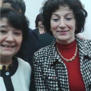 Doamna Chantal Moreno director al Biroului Regional al OIF si Cleopatra lorintiu, coordonator Departament Francofonie la CCERPA.28 mai 2015.