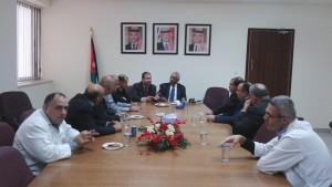Reuniunea unei părţi din Clubul absolvenţilor , condus de dr. Bassam Al Shloul, manager general la Spitalul Prince Hussein Ben Abdullah