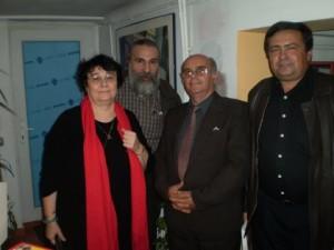 Momentul donației realizate de Cleopatra Lorințiu către comuna Domnești, pentru crearea Bibliotecii Gheorghe Tomozei .
