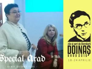 """Cleopatra Lorinţiu şi Lia Faur la Muzeul TEBA Arad, """"Zile şi seri Doinaş"""", ediţia aprilie 2016"""